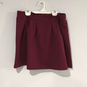 Maroon skirt. 13.